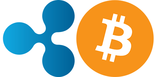 ripple vs. bitcoin - logo's
