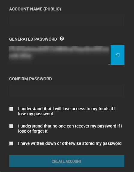 bitshares-wallet-stappenplan: password