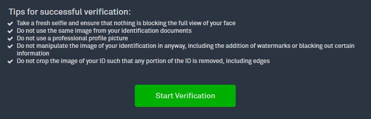 Stappenplan kopen en verkopen op Bittrex: account verificatie
